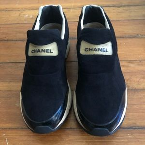 CHANEL Shoes - Vintage Chanel suede sneakers
